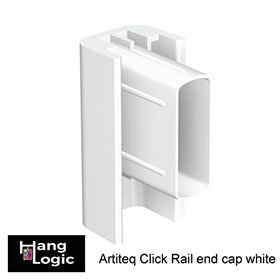 End cap Click Rail white for Artiteq Click Rail picture hanging system
