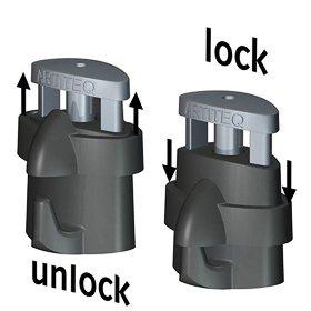 Artiteq Micro Grip Hook locking mechanism