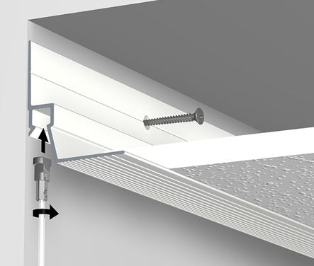 Built-in picture hanging system- the Artiteq Art Strip picture hanging rail
